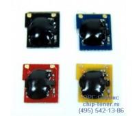 Чип голубого  картриджа HP Color LaserJet CP3505/3800