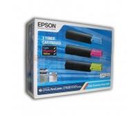 Комплект картриджей Epson AcuLaser C1100 / CX11 / CX21 (3 картриджа: синий,   желтый,   красный) оригинальный